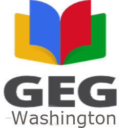 Square GEG Logo with Washington Name